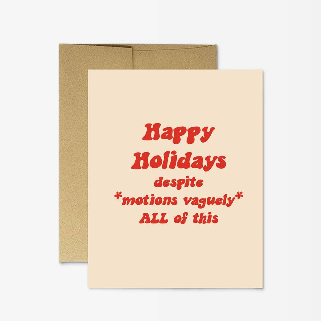 """Motions Vaguely"" Holiday Card"
