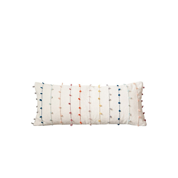 Color Pom Pillow