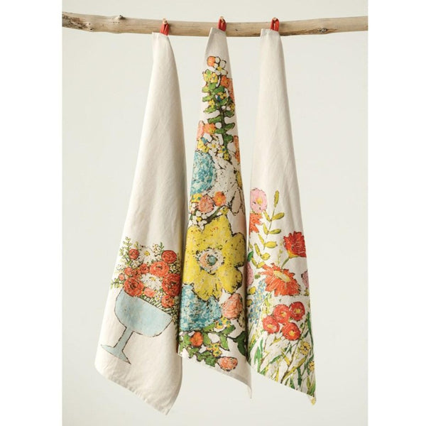 Floral Cotton Tea Towels