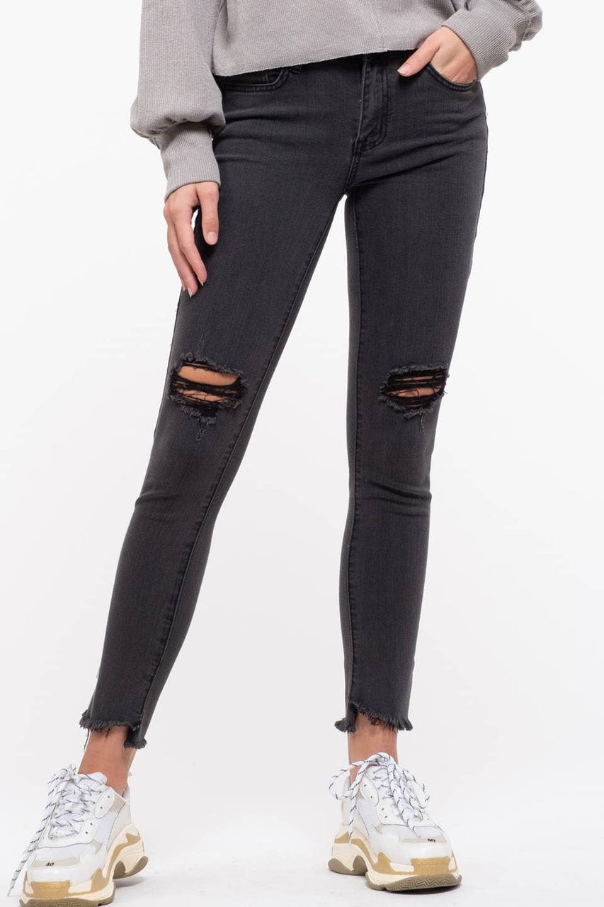 Black High-Rise Denim Jeans