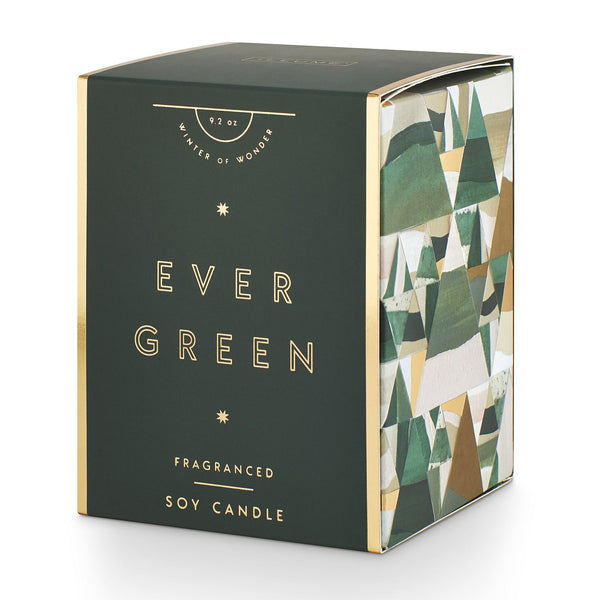 Evergreen Gifted Glass Candle - 9.2oz