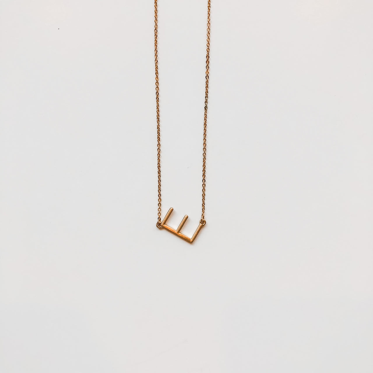 Medium Gold Letter Necklace