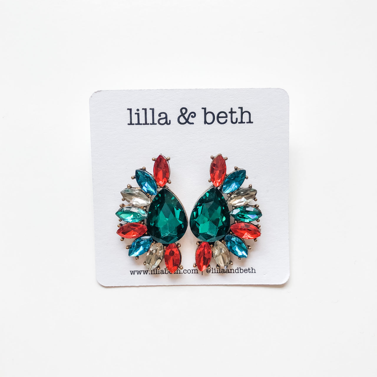 Multi Gem Earrings