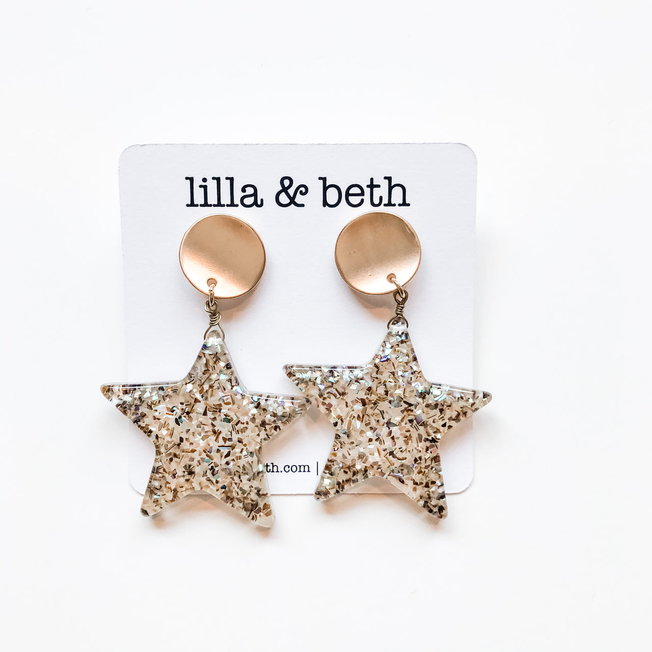 Star Clip On Earrings