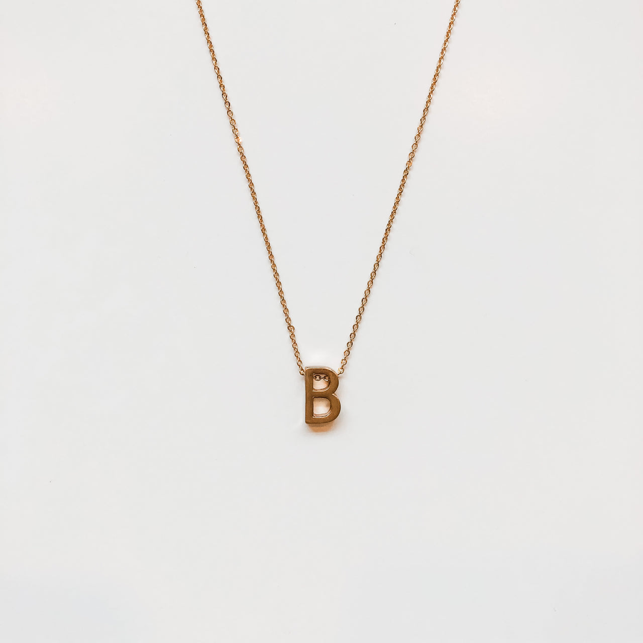 Small Gold Letter Necklaces