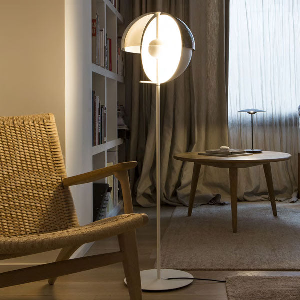 Lucia Floor Lamp - White | iLite Lighting
