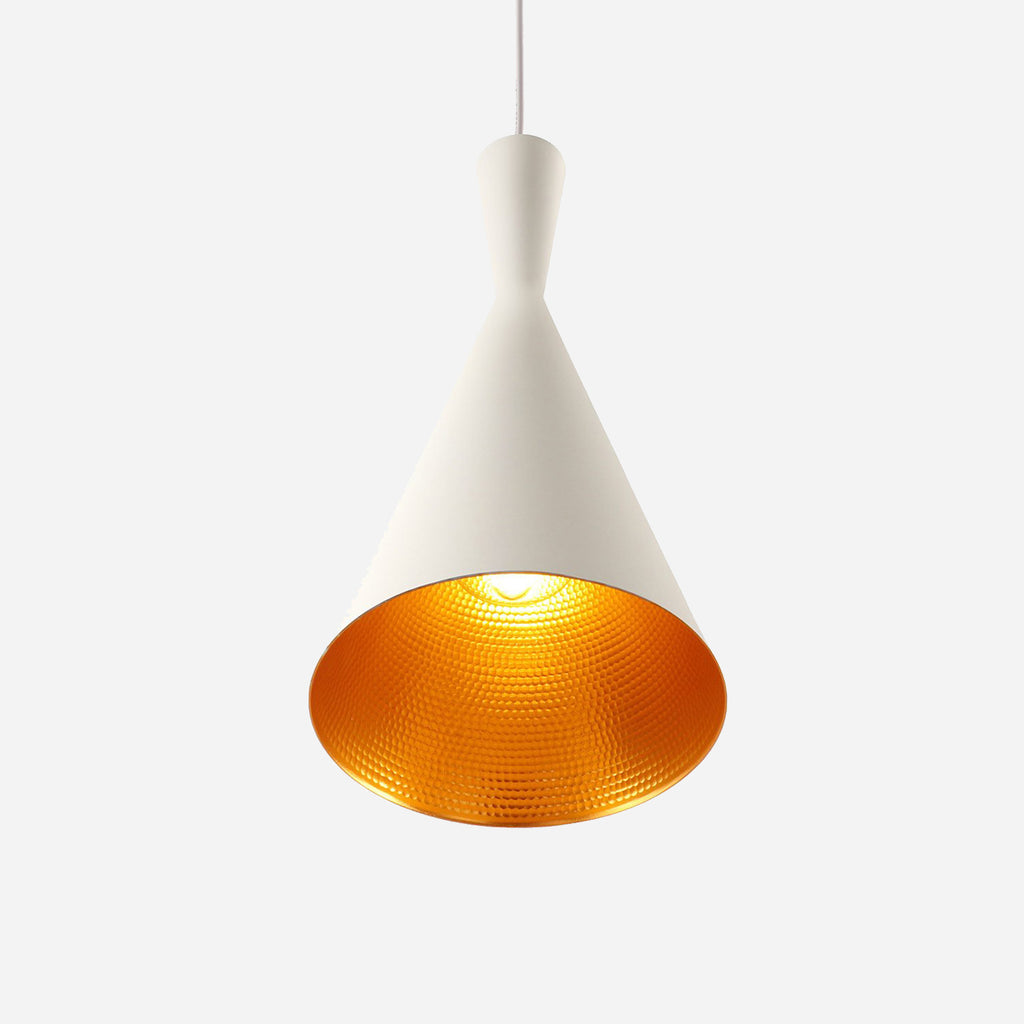 Funk Tall Pendant Light - White