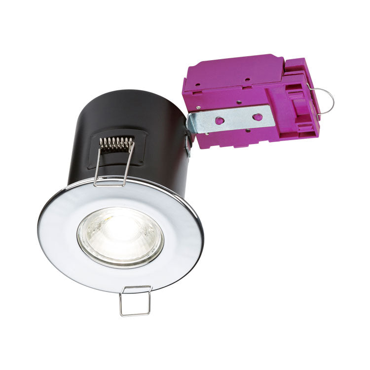 Fixed GU10 Fire-Rated Downlight - Chrome      5.90  Knightsbridge