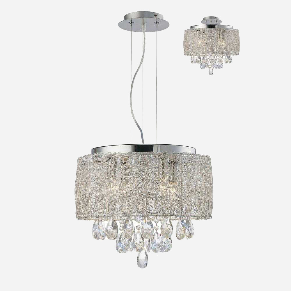 Partita 4 Light Crystal Suspension