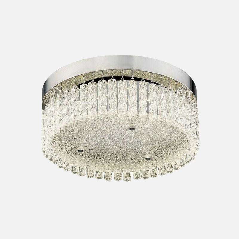 Mese Small Round LED Crystal Ceiling Light | iLite Lighting