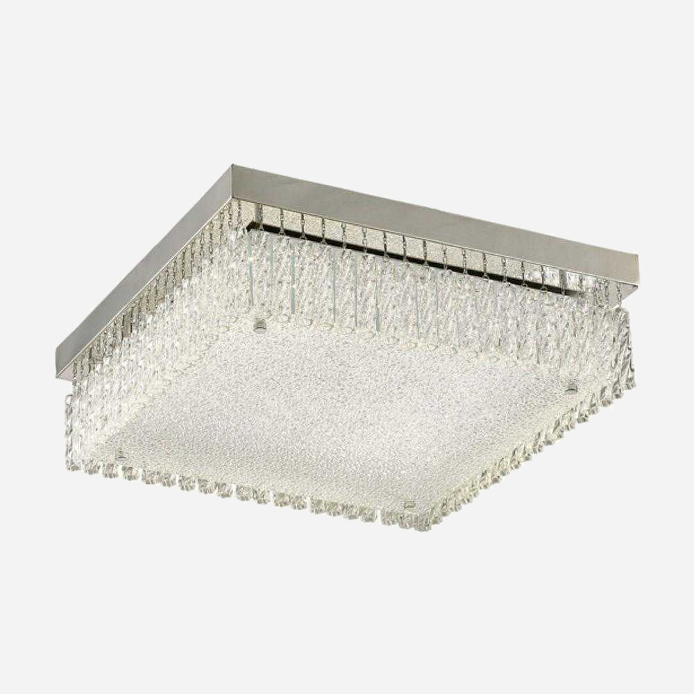 Mese Large Square LED Crystal Ceiling Light | iLite Lighting