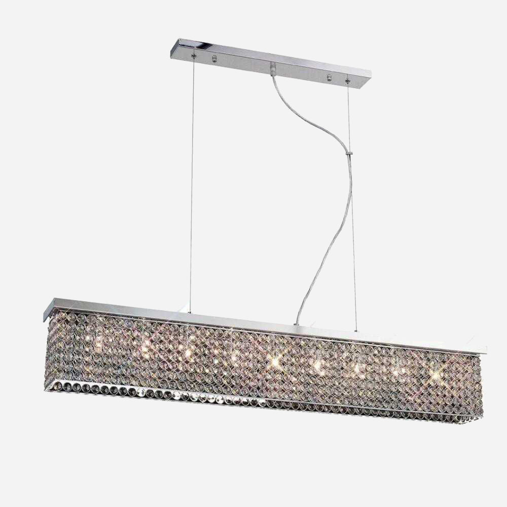 Segreto 9 Light Crystal Bar Suspension