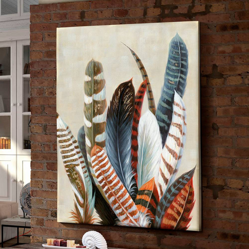 Feather Canvas Painting | iLite Lighting