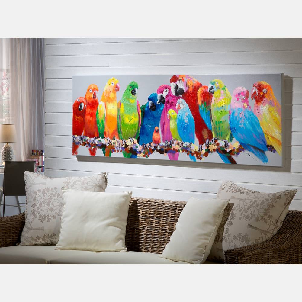Parrots Canvas Painting