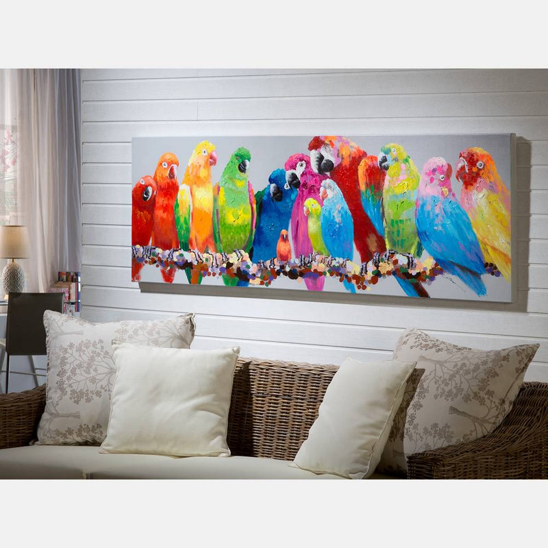 Parrots Canvas Painting | iLite Lighting