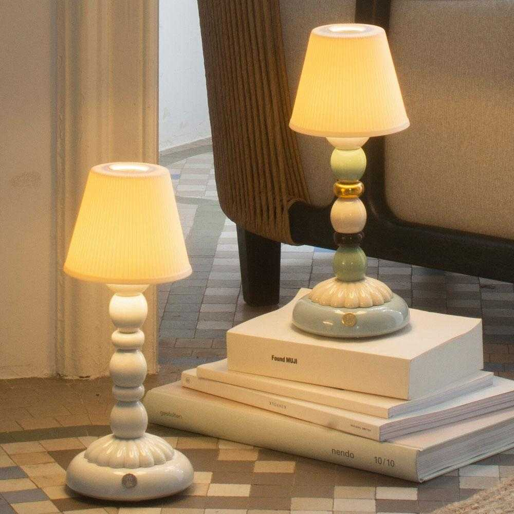 Palm Firefly Table Lamp - Pale Blue | iLite Lighting