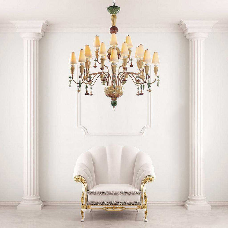 Ivy and Seed 16 Lights Chandelier - Golden Luster | iLite Lighting