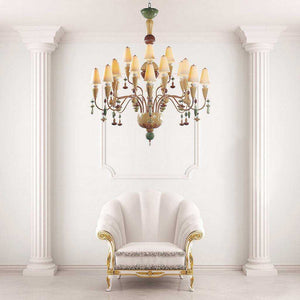 Ivy and Seed 20 Lights Chandelier - Golden Luster      6679.00  Lladro Lamps & Figurines