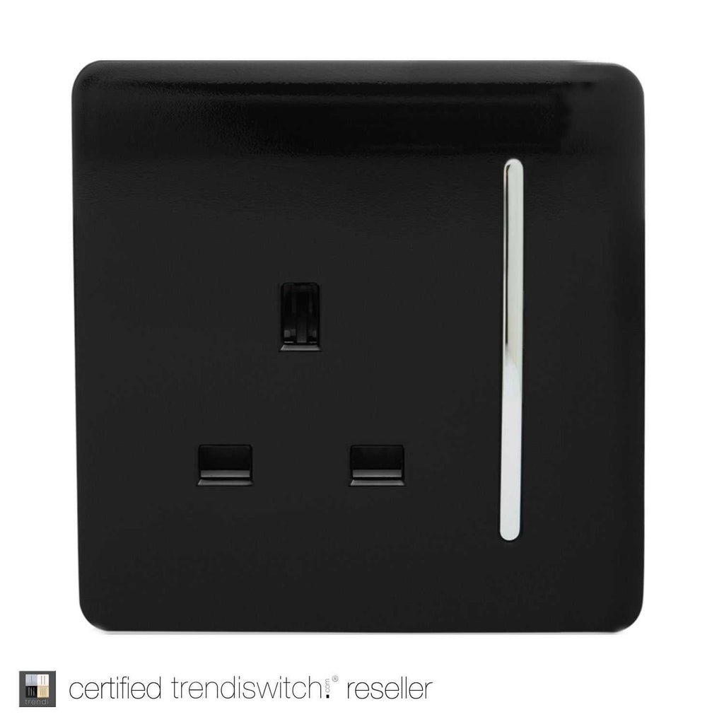 1 Gang 13amp Switched Single Socket Black      7.95  Trendiswitch