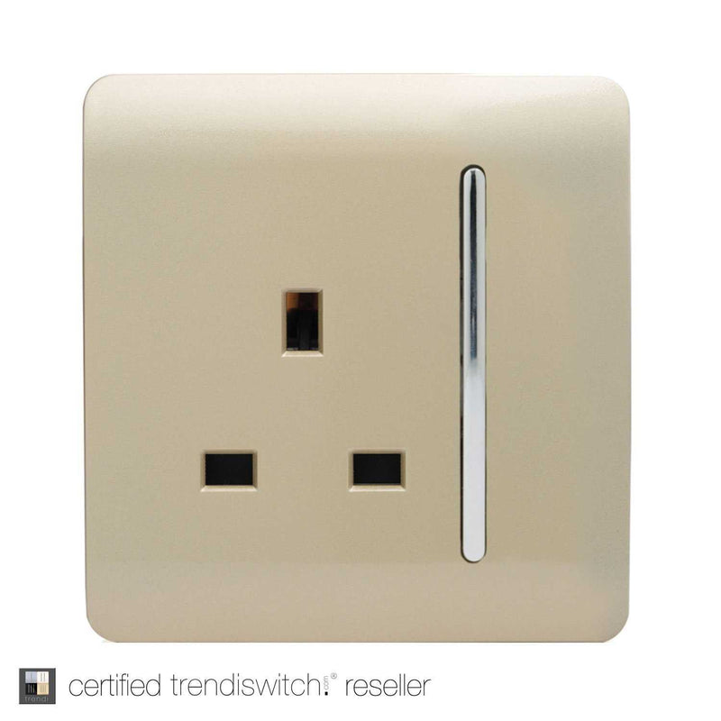 1 Gang 13amp Switched Single Socket Gold | iLite Lighting
