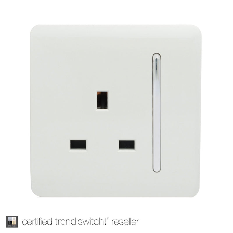 1 Gang 13amp Switched Single Socket White | iLite Lighting