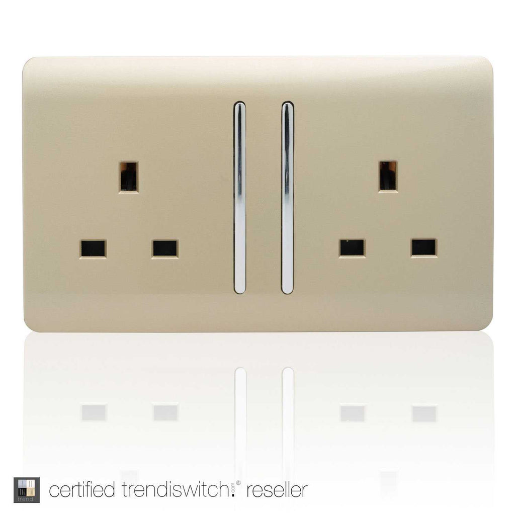 2 Gang 13amp Long Switched Double Socket Gold      11.95  Trendiswitch