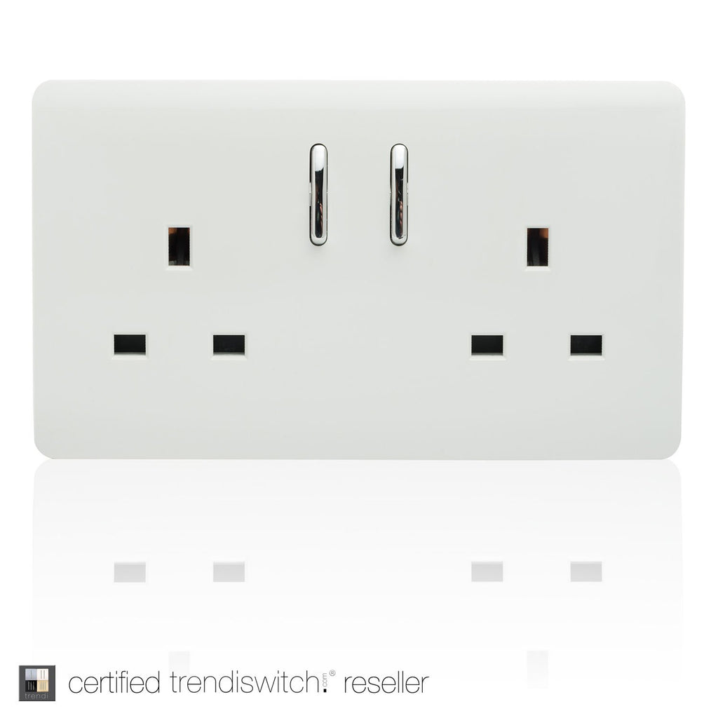 2 Gang 13amp Switched Double Socket White      11.95  Trendiswitch