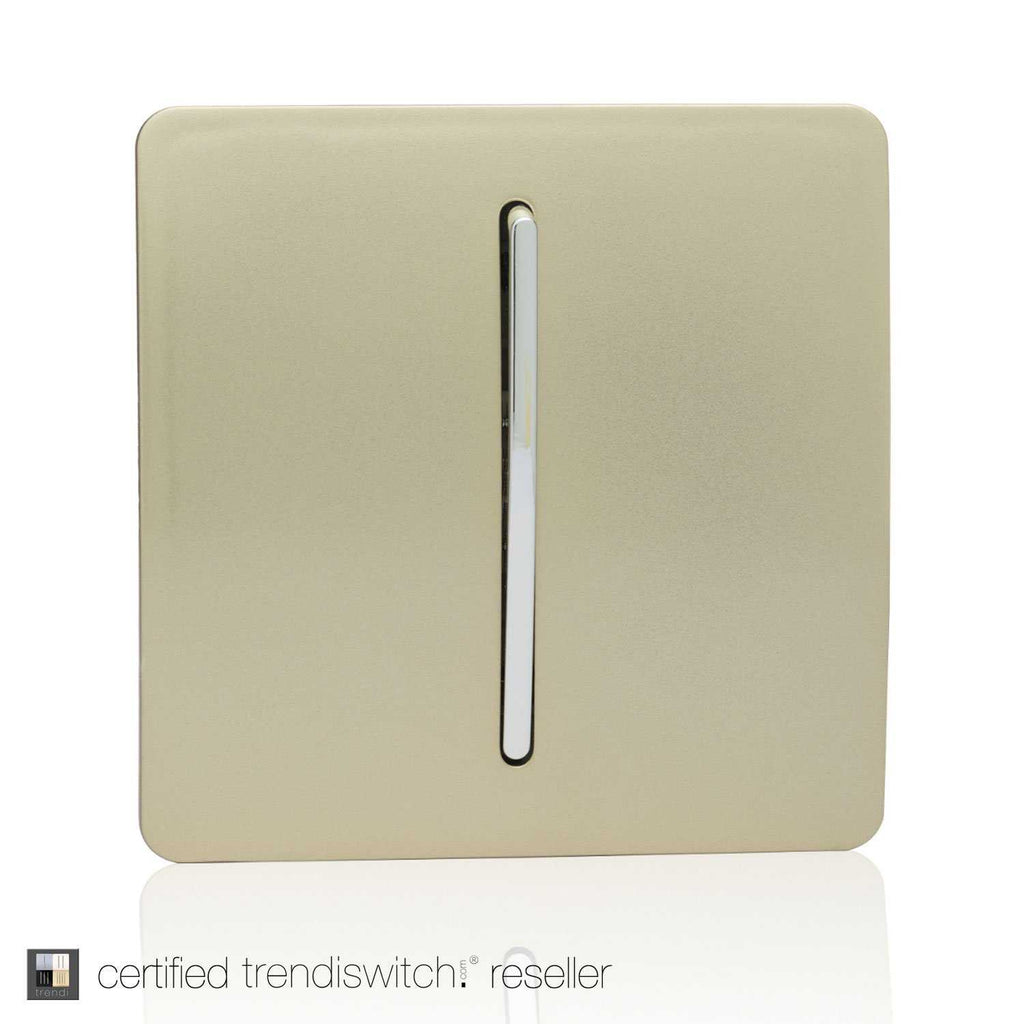 1 Gang Retractive Home Auto.Switch Gold | iLite Lighting