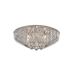 Fe 6 Light Crystal Ceiling Light - Chrome      334.90  Impex