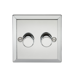 2G 2 Way 40-400W Dimmer - Bevelled Edge Polished Chrome      26.90  Knightsbridge