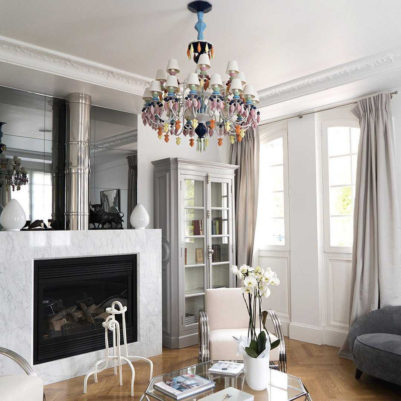 Belle De Nuit 12 Light Chandelier - White      5264.00  iLite Lighting