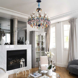 Belle De Nuit 12 Light Chandelier - Absolute Black      5579.00  iLite Lighting