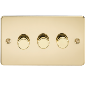 FLAT PLATE 3G 2 WAY 40-400W DIMMER - POLISHED BRASS      37.90  iLite Lighting