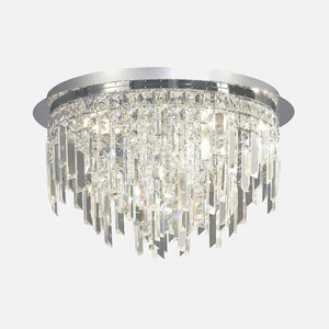 Volete Crystal Round Ceiling Light - Chrome      389.90  Diyas Lighting