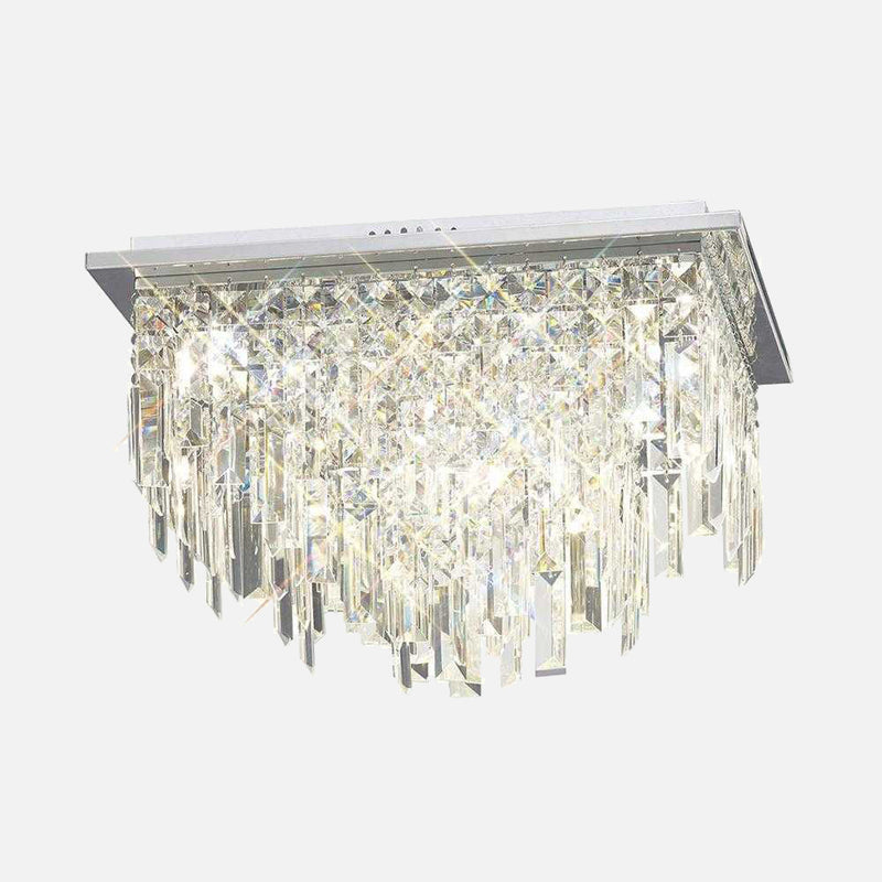 Volete Crystal Square Ceiling Light - Chrome | iLite Lighting