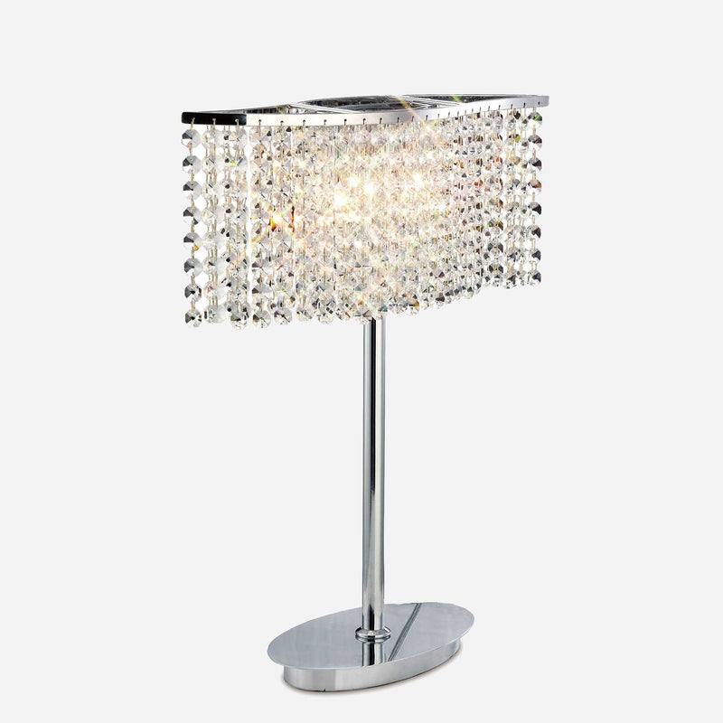 Brava 2 Light Crystal Table Lamp | iLite Lighting