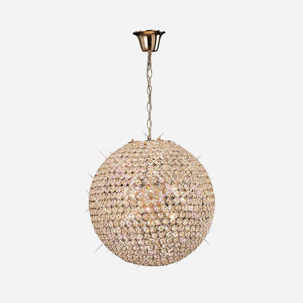 Bambini 7 Light Crystal Suspension - Gold