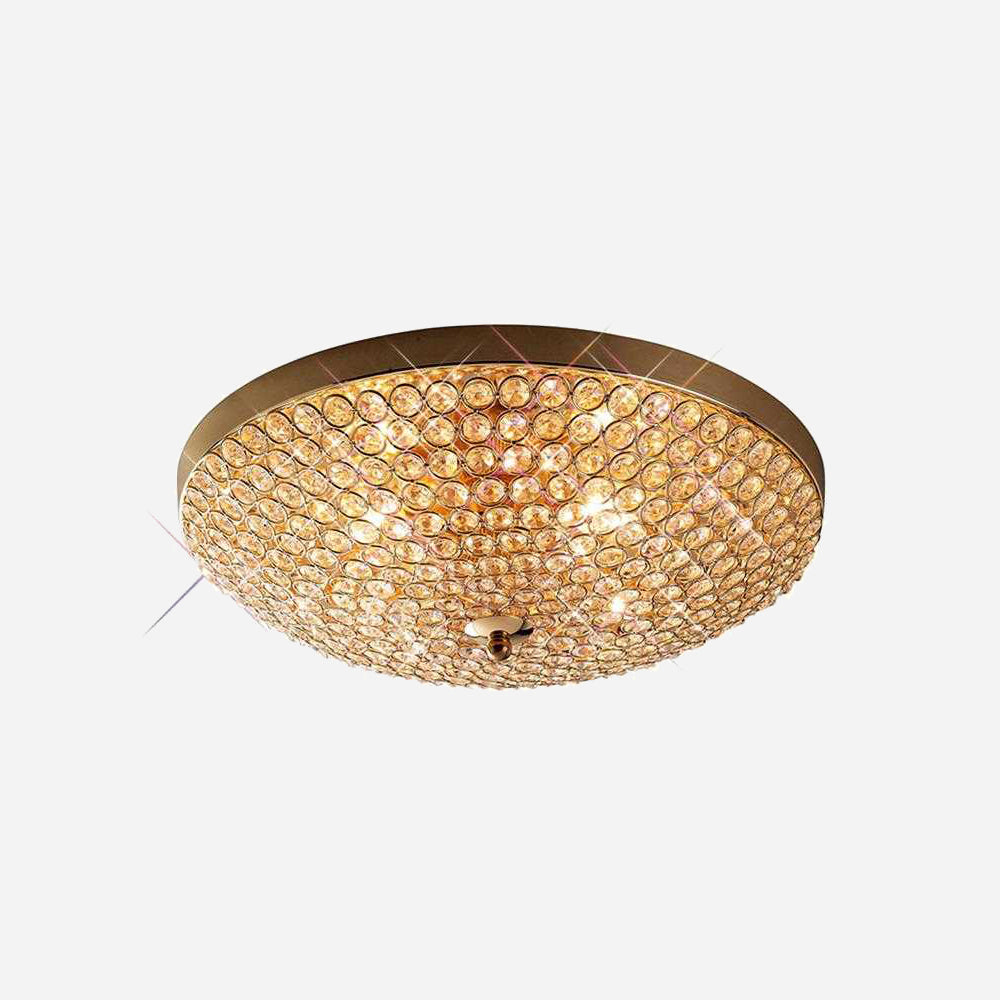 Bambini 4 Light Crystal Ceiling Light - Gold      189.90  Diyas Lighting