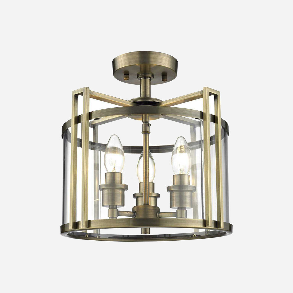 Lanterna 3 Light Lantern Ceiling Light - Antique Brass      279.90  Diyas Lighting