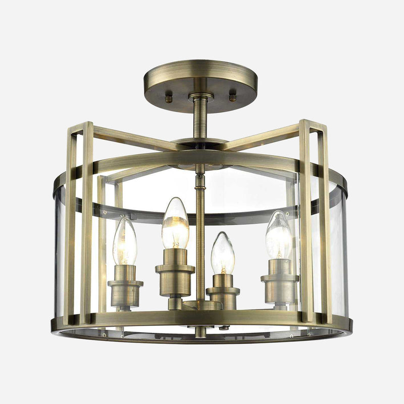 Lanterna 4 Light Lantern Ceiling Light - Antique Brass      359.90  Diyas Lighting