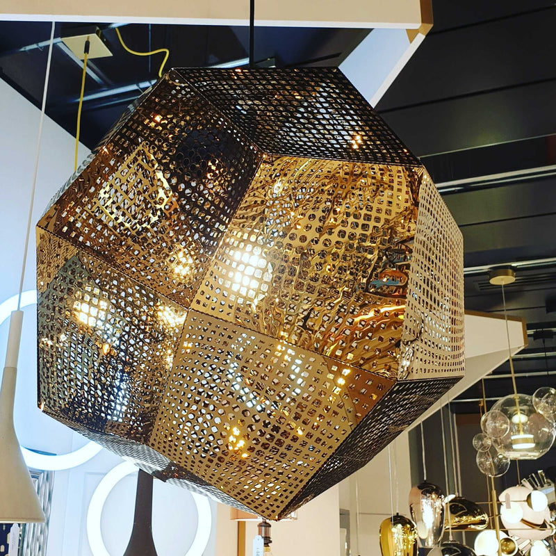 Etch 48cm Pendant Light - Gold | iLite Lighting