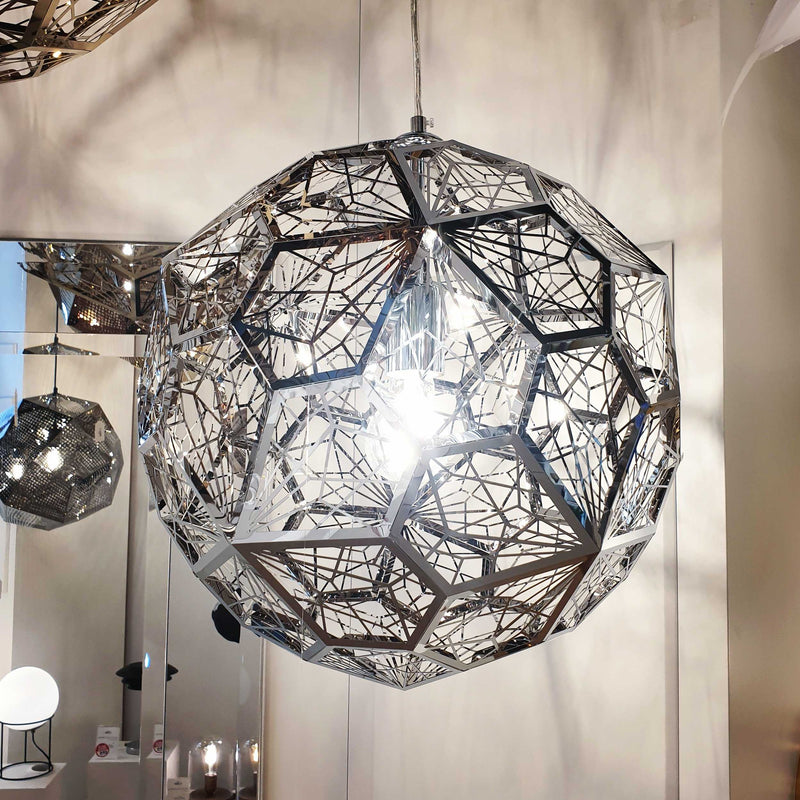 Etch Web 40cm Pendant Light - Silver | iLite Lighting