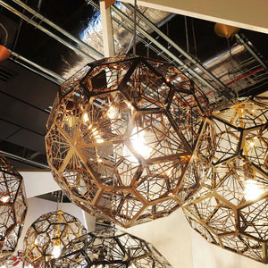 Etch Web 40cm Pendant Light - Copper