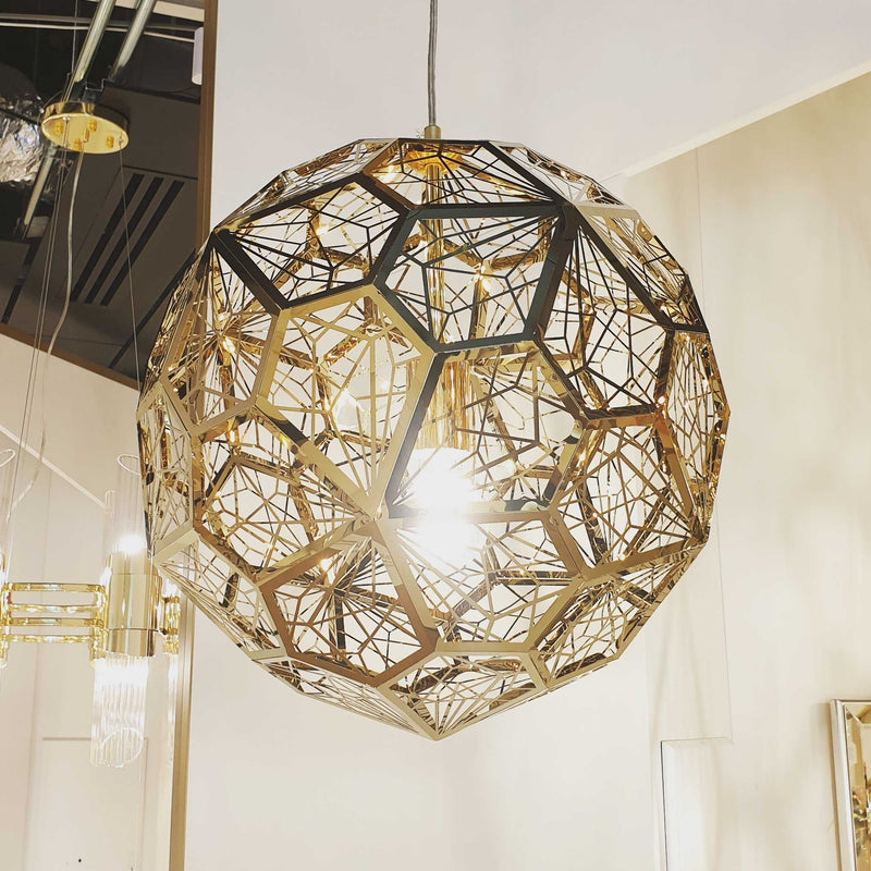 Etch Web 40cm Pendant Light - Brass | iLite Lighting