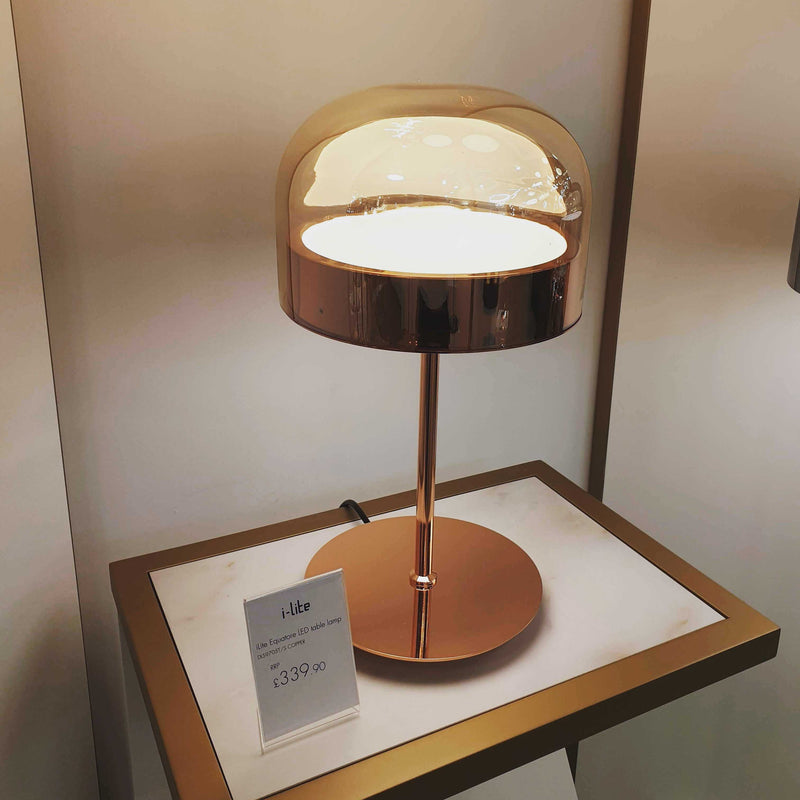 Equatore LED Table Lamp - Copper | iLite Lighting
