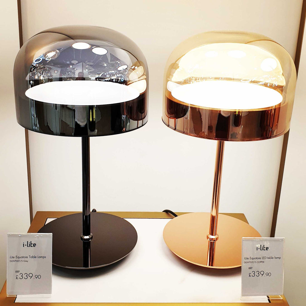 Equatore LED Table Lamp - Smokey      339.90  iLite Lighting