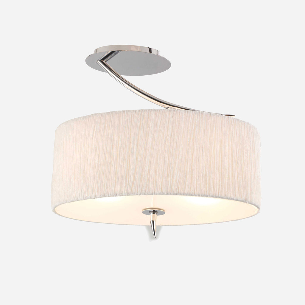 Caldo 2 Light Ceiling Light - Chrome | iLite Lighting