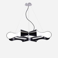 Venite 8 Light Round Suspension - Black      639.90  Mantra Lighting
