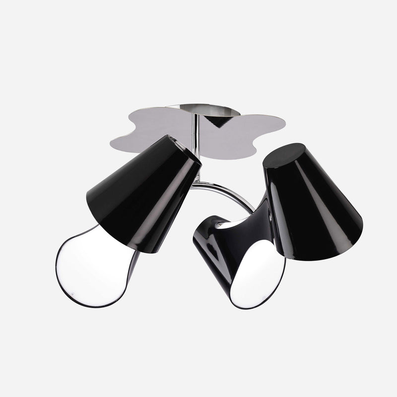 Venite 4 Light Ceiling Light - Black | iLite Lighting