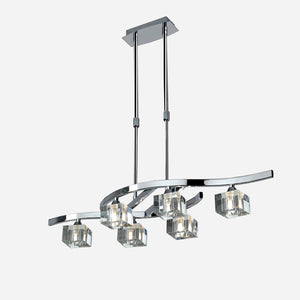 Cielo 6 Light Suspension Light - Chrome      244.90  iLite Lighting